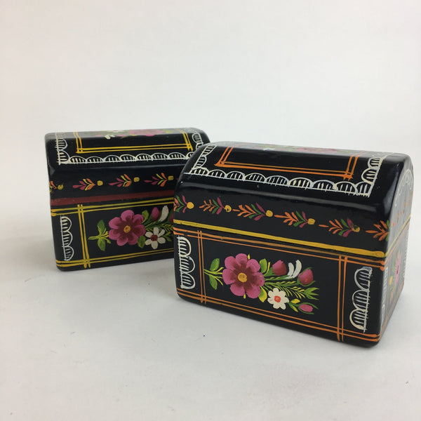 Painted Mexican Lacquer Boxes, 2 Sizes