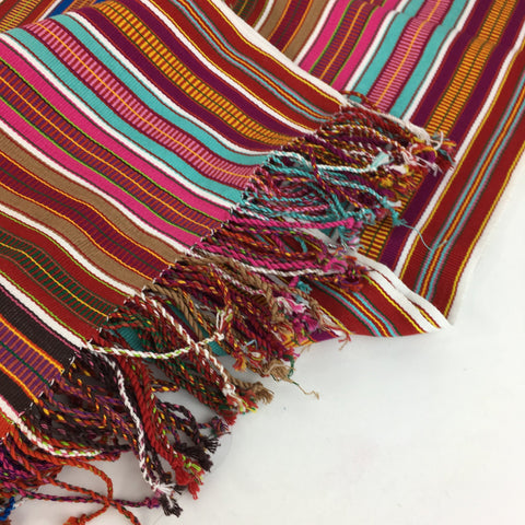Striped Pantelho Table Runners, Shawl or Rebozo - Zinnia Folk Arts