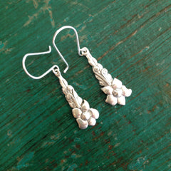 Small Hanging Blossoms, Sterling Silver