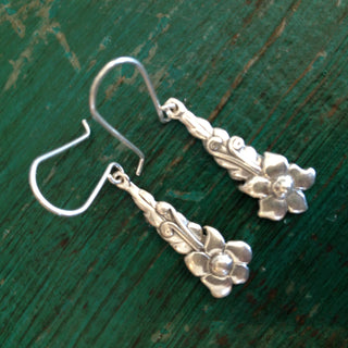 Small Hanging Blossoms, Sterling Silver - Zinnia Folk Arts