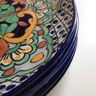 Handmade Plates in the Talavera Style, Various Patterns - Zinnia Folk Arts