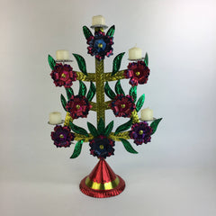 Cut Tin Candleholder, Extra Tall