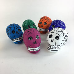 Mexican Paper Mache Skulls with Glitter Eyes