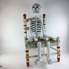 Paper Mache Day of the Dead Skeletons with Glitter,  Extra Large