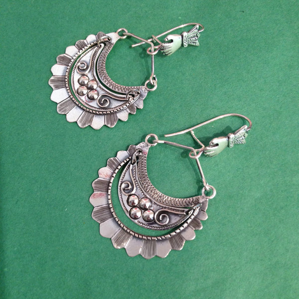 Large Tlaxcala Arracadas Sterling Silver Earrings
