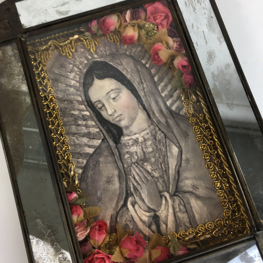 Virgen de Guadalupe Tin Nicho Boxes from Mexico - Zinnia Folk Arts