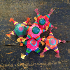 Paper Mache Mexican Christmas Tree Star Ornaments