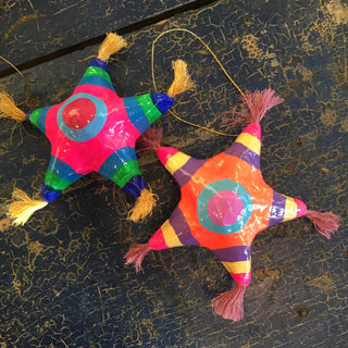 Paper Mache Mexican Christmas Tree Star Ornaments - Zinnia Folk Arts