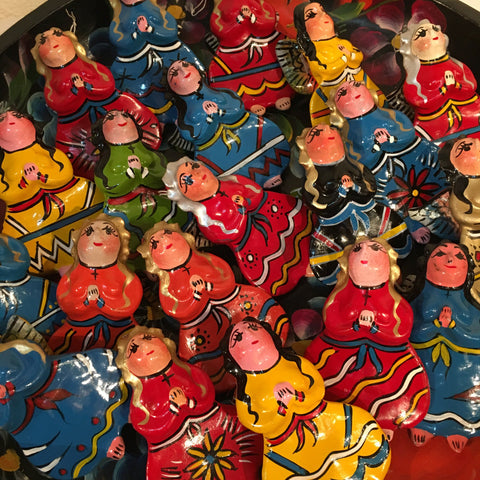 Guerrero Christmas Ornaments, Angels and Cherubs - Zinnia Folk Arts