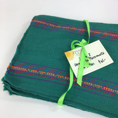 Set of 8 Handwoven Cotton Placemats with Decorated Edges, Oaxaca