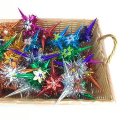 Shiny Paper Pinata Star Ornaments