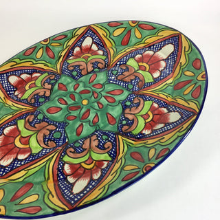 Very Large Talavera Platter - Zinnia Folk Arts