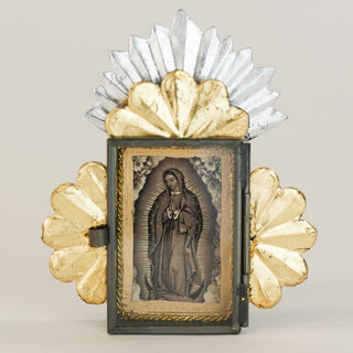 Tiny Virgen de Guadalupe Tin Nicho Boxes - Zinnia Folk Arts
