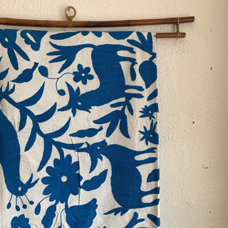 Otomí Tablecloth, Bedspread or Tenango - Zinnia Folk Arts
