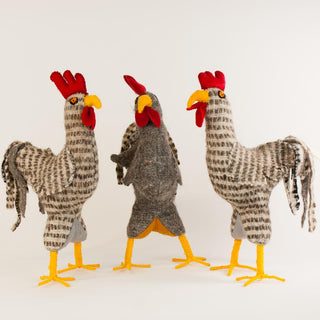 Wool Roosters from Chiapas, Medium - Zinnia Folk Arts
