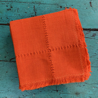 Guanajuato Handwoven Cotton Napkins, Solid Colors - Zinnia Folk Arts