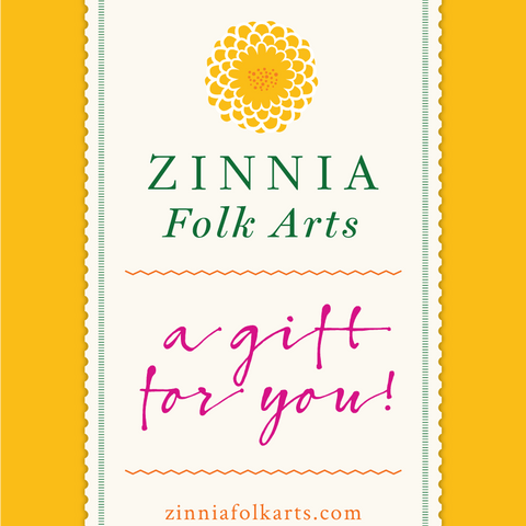 Gift Card - Zinnia Folk Arts