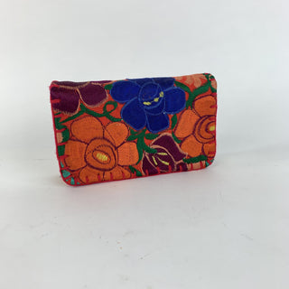 Vibrant Guatemalan Clutch Bags With Zipper - Zinnia Folk Arts