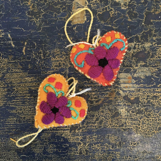 Small Soft Flannel Stars, Hearts, Crescent Moons - Zinnia Folk Arts