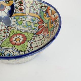 Pozole Mexican Talavera Salad Bowl, Large - Zinnia Folk Arts