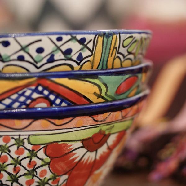 Pozole Mexican Talavera Salad Bowl, Large