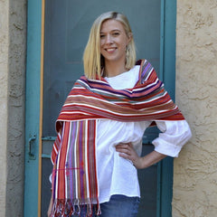 Striped Pantelho Table Runners, Shawl or Rebozo