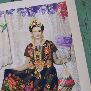 Frida Kahlo Fine Art, Maria Carmina Painted Digital Art - Zinnia Folk Arts