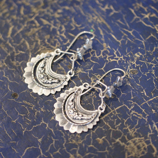 Medium Tlaxcala Arracadas Sterling Silver Earrings - Zinnia Folk Arts