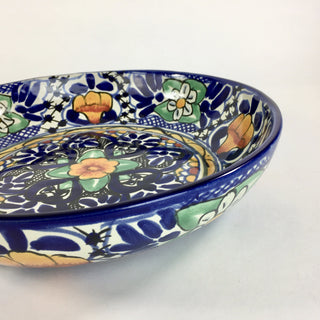 Shallow Talavera Serving Bowl - Zinnia Folk Arts