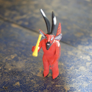 Carved Little Devil from Oaxaca, La Union - Zinnia Folk Arts