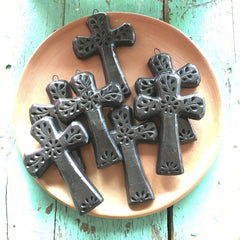 Black Clay Crosses from Oaxaca