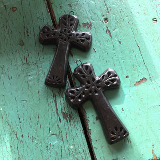 Black Clay Crosses from Oaxaca - Zinnia Folk Arts