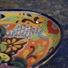 Shallow Oval Talavera Baking Pan