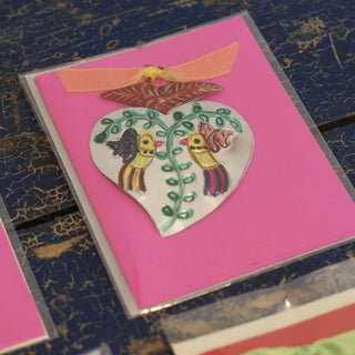 Cards with Tin Ornament - Zinnia Folk Arts