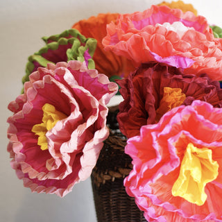 Bright Multicolored Mexican Paper Flowers - Zinnia Folk Arts