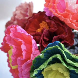 Bright Multi-colored Mexican Paper Flowers - Zinnia Folk Arts