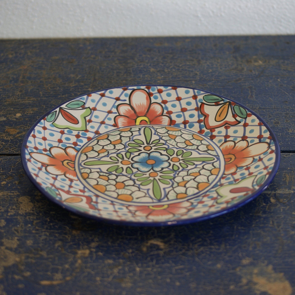 ... Large Dinner Plates in the Talavera Style - Zinnia Folk Arts & Large Dinner Plates in the Talavera Style \u2013 Zinnia Folk Arts