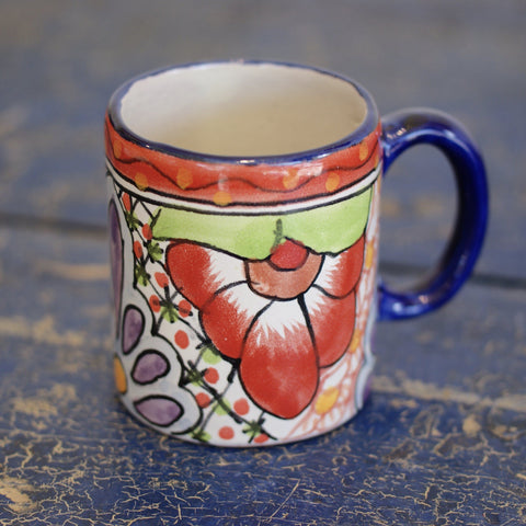 Mexican Talavera Coffee Mugs - Zinnia Folk Arts