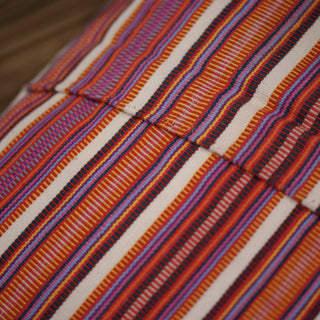 Striped Pantelho Pillow Cover from Chiapas, Mexico - Zinnia Folk Arts