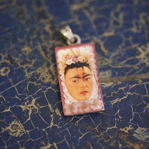 Frida Kahlo Pendants - Zinnia Folk Arts