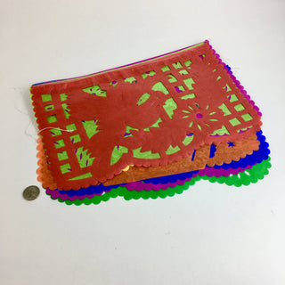 Papel Picado,  Mexican  Flags on a String, Spring Motif - Zinnia Folk Arts