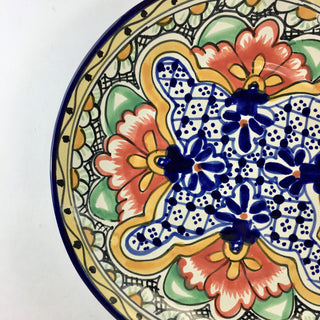 Large Dinner Plates in the Talavera Style - Zinnia Folk Arts