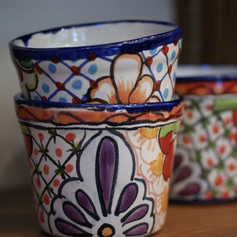 Talavera Flower Pots, Small - Zinnia Folk Arts