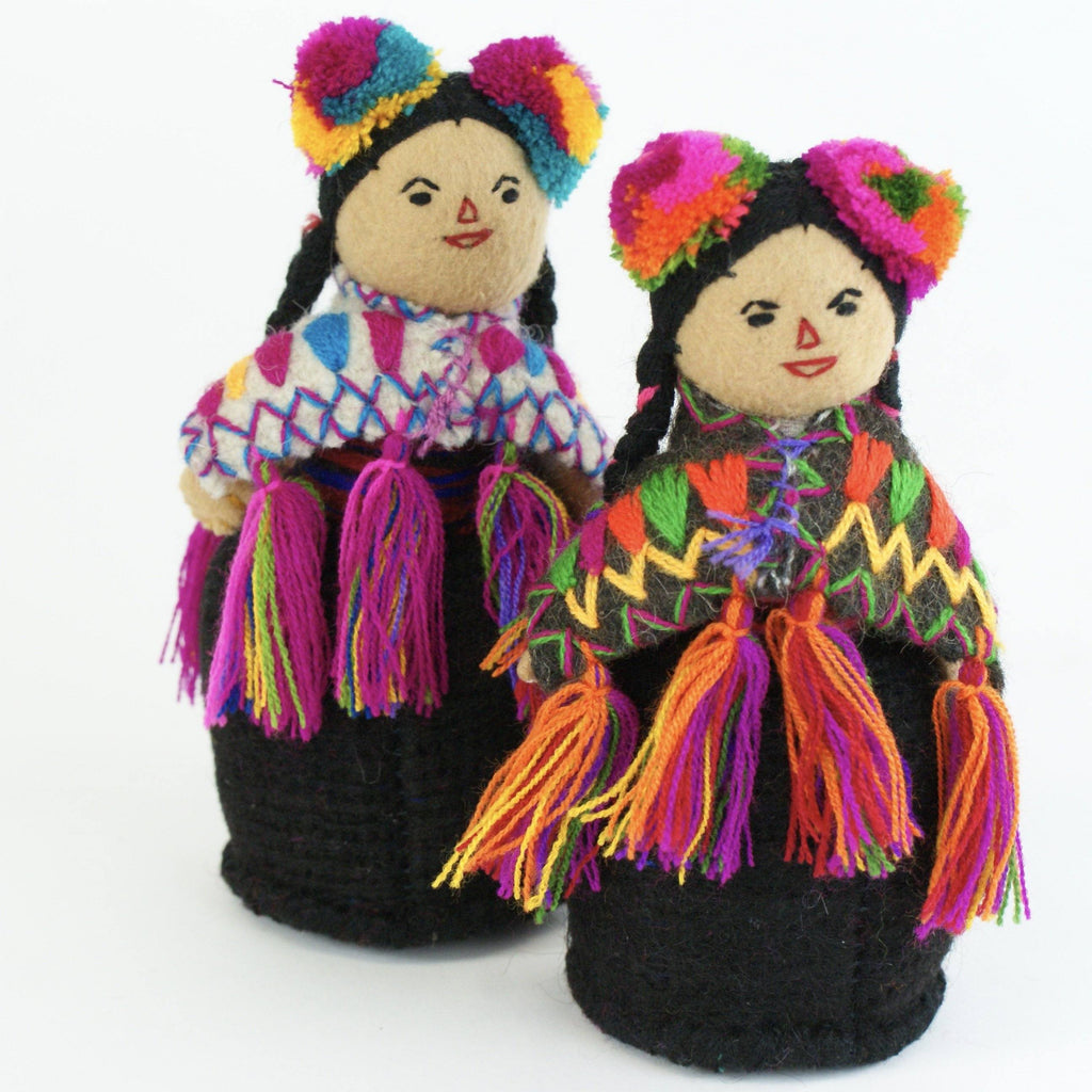 Chamula Chiapas Dolls with Pompoms - Zinnia Folk Arts