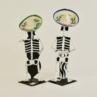 "Paper Mache Day of the Dead Mariachis, 10"" Tall - Zinnia Folk Arts"