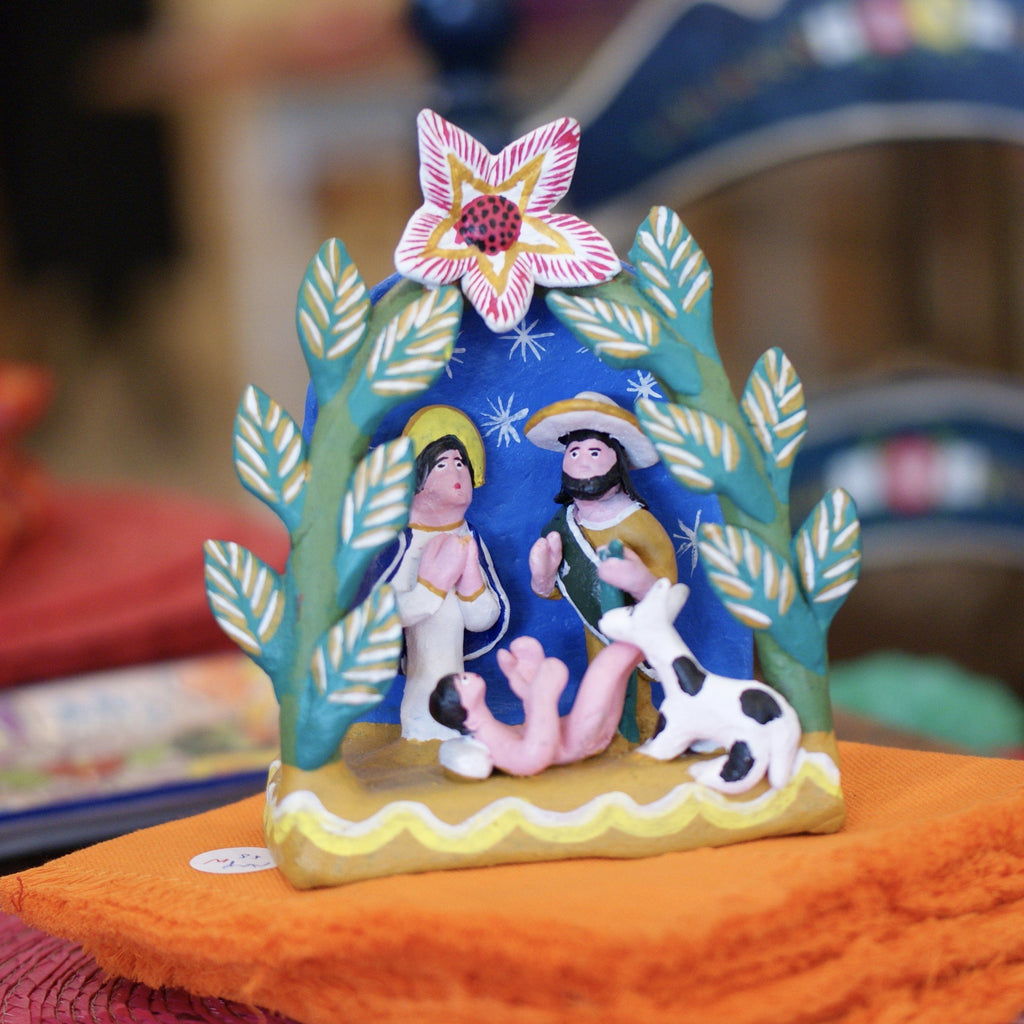 Ocumicho Nativity Scenes On a Platform - Zinnia Folk Arts