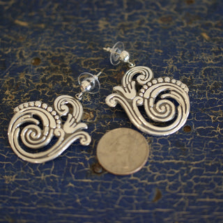 Old Mexico Silver Earrings, Romero - Zinnia Folk Arts