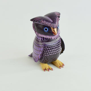 Carved and Painted Owl, Ana Xuana, San Martin Tilcajete - Zinnia Folk Arts