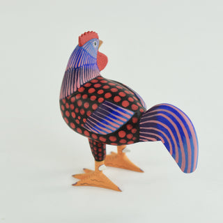 Carved and Painted Rooster, Avelino Perez, La Unión Tejalápan - Zinnia Folk Arts
