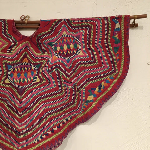 Vintage Colorful Huipil from San Mateo, Guatemala - Zinnia Folk Arts